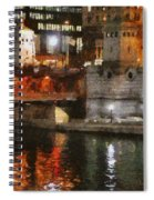 Chicago River At Michigan Avenue Spiral Notebook