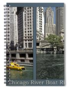 Chicago River Boat Rides 2 Panel Spiral Notebook