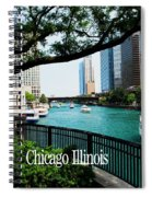 Chicago River Front Spiral Notebook