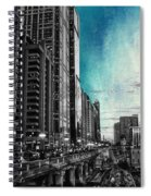 Chicago River Hdr Sc Textured Spiral Notebook