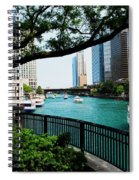Chicago River Scene Spiral Notebook