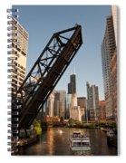 Chicago River Traffic Spiral Notebook