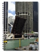 Chicago River Walk Construction Spiral Notebook