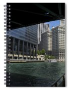 Chicago River Walk Going East 02 Spiral Notebook
