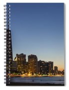 Chicago Skyline At Dusk 3 To1 Aspect Ratio Spiral Notebook