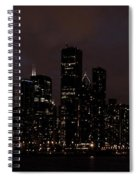 Chicago Skyline At Night Spiral Notebook
