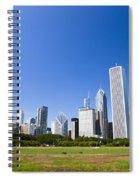 Chicago Skyline From Grant Park Spiral Notebook