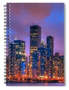 Chicago Skyline From Navy Pier View 2 Spiral Notebook