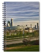 Chicago Skyline From The Sledding Hill Spiral Notebook