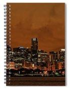 Chicago Skyline Panorama At Dusk Spiral Notebook