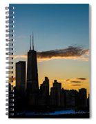 Chicago Skyline Silhouette Spiral Notebook