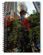 Chicago Street Light Spiral Notebook