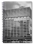 Chicago Sun Times Facade After The Storm Bw Spiral Notebook