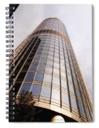 Chicago Sunrays On Trump Tower Spiral Notebook