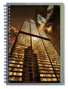 Chicago Tall Shoulders Trump Sears 333 W Wacker Triptych 3 Panel 01 Spiral Notebook