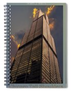 Chicago Tall Shoulders Trump Sears 333 Wacker Triptych 3 Panel 03 Spiral Notebook
