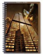 Chicago Tall Shoulders Trump Sears Tribune Triptych 3 Panel 01 Spiral Notebook
