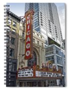 Chicago Theater Facade Northside Spiral Notebook