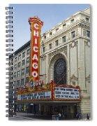 Chicago Theater Facade Southside Spiral Notebook