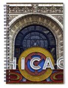 Chicago Theater Marquee Spiral Notebook