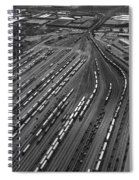 Chicago Transportation 02 Black And White Spiral Notebook