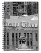 Chicago Tribune Facade Signage Bw Spiral Notebook