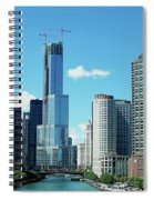 Chicago Trump Tower Under Construction Spiral Notebook