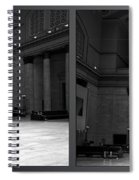 Chicago Union Station The Great Hall 2 Panel Bw Spiral Notebook