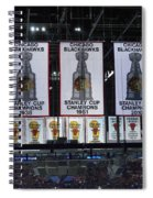 Chicago United Center Banners Spiral Notebook