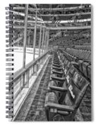Chicago United Center Before The Gates Open Blackhawk Seat One Bw Hdr Spiral Notebook