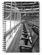 Chicago United Center Before The Gates Open Blackhawk Seat One Bw Spiral Notebook