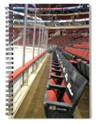 Chicago United Center Before The Gates Open Blackhawk Seat One Spiral Notebook