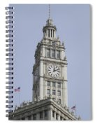 Chicago Wrigley Clock Tower Spiral Notebook