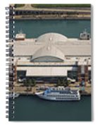 Chicago's Navy Pier Aerial Panoramic Spiral Notebook