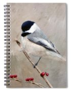 Chickadee And Berries Spiral Notebook