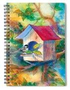 Chickadee Bungalow Spiral Notebook