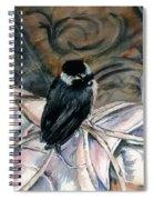 Chickadee On A Sneaker Spiral Notebook