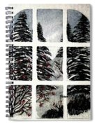 Chickadees And Dogberries Abstraction Spiral Notebook