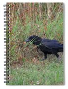 Chicken Eating Crow Spiral Notebook