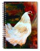 Chicken--yard Bird Impression Spiral Notebook