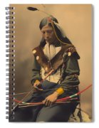 Chief Bone Necklace Of The Lakota 1899 Spiral Notebook