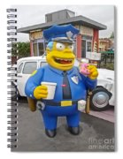 Chief Clancy Wiggum From The Simpsons Spiral Notebook