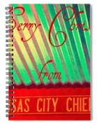 Chiefs Christmas Spiral Notebook