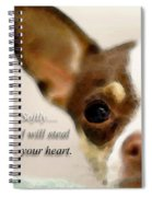 Chihuahua Dog Art - The Thief Spiral Notebook