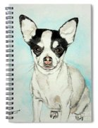 Chihuahua White With Black Spots Spiral Notebook