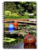 Chihuly Ball Lily Pond Spiral Notebook
