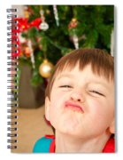 Child At Christmas Spiral Notebook