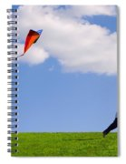 Child Flying A Kite Spiral Notebook