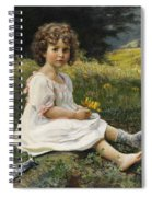 Child In The Meadow Spiral Notebook