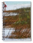Child Playing On The Beach Mackinaw City Spiral Notebook